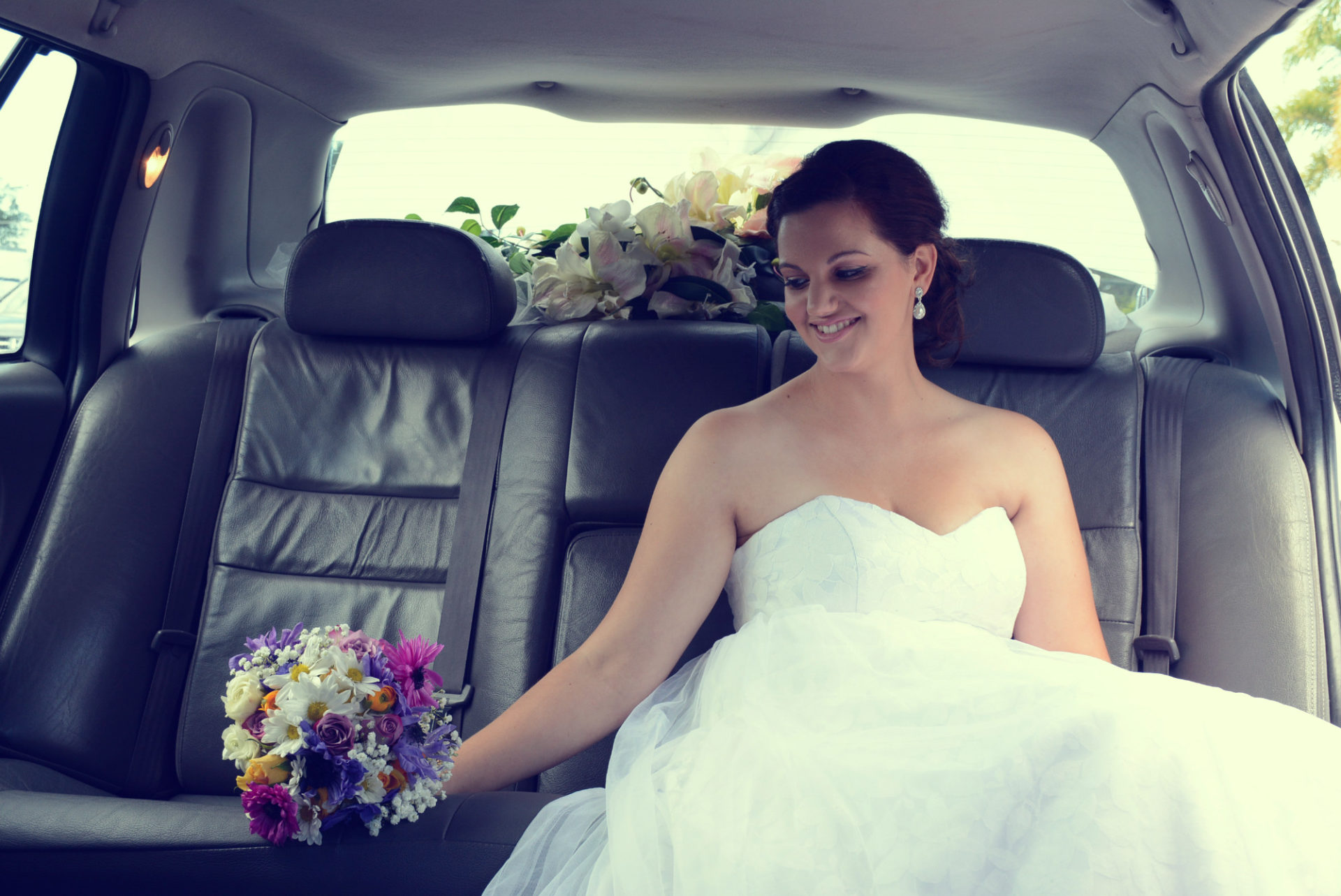 Beautiful Brides in Stretch Limos
