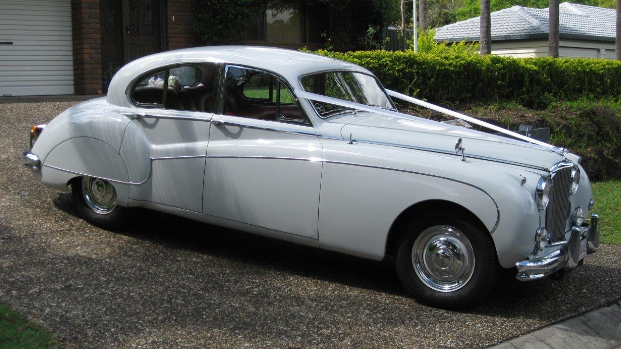 White Jaguar wedding car Hire