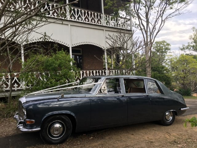 Vintage Wedding limo hire Brisbane-Daimler DS420