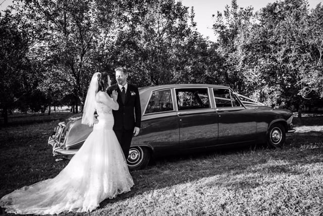 Daimler DS420 wedding car
