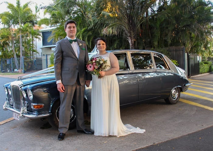 Vintage Daimler Wedding Limousine Seats from 6 Passengers + Chauffeur