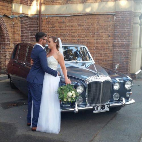 vintage-Daimler-wedding-limousine