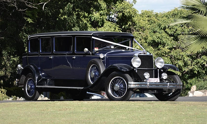view our collection of vintage weddinf cars and limos