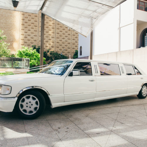 WHite Classic Mercedes Benz Stretch