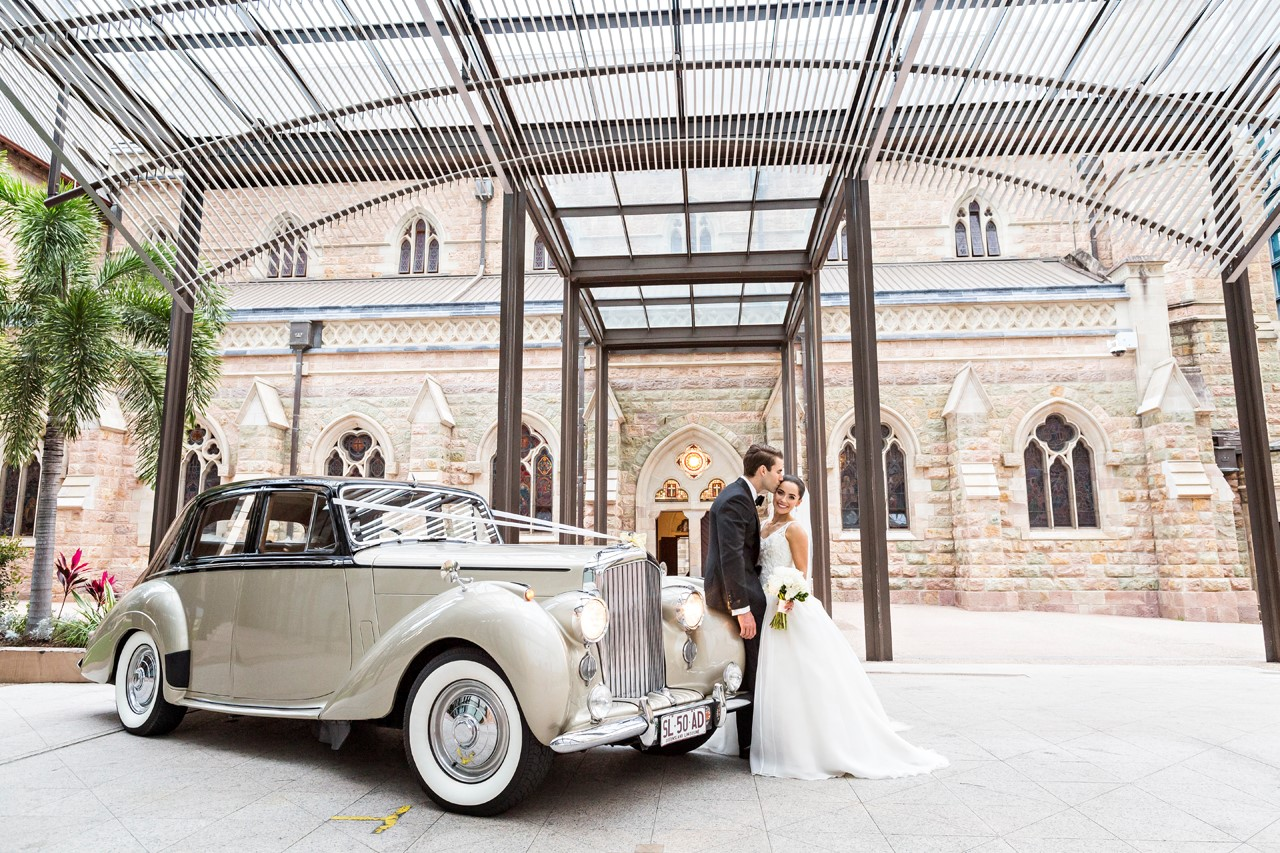 1950's Classic Bentley with bride