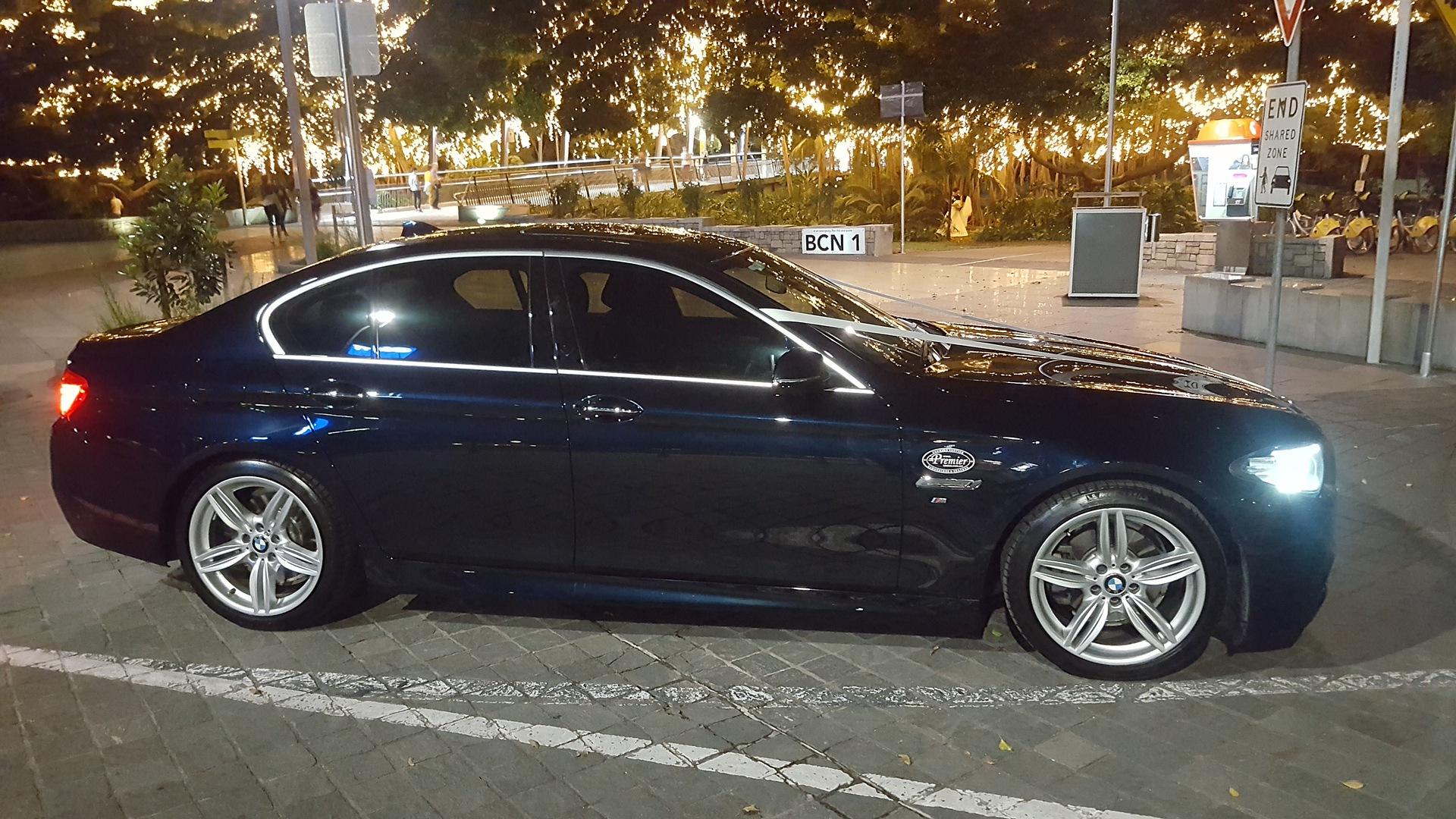 Black Luxury BMW Wedding Car