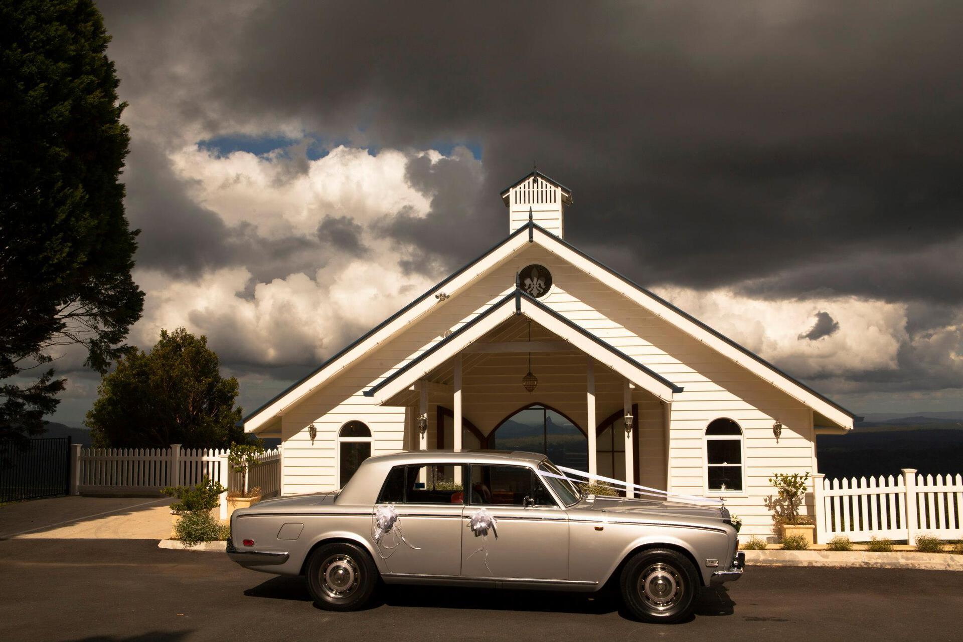 wedding car hire silver rolls royce