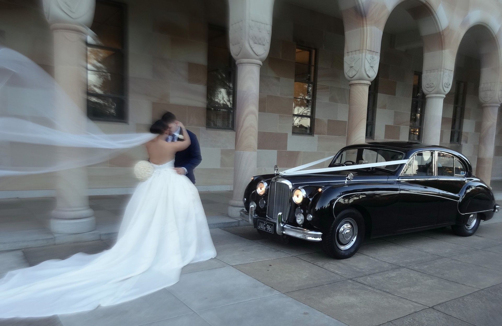 Jaguar Mk IX 1960 wedding photo